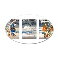 Viewing the Snow Triptich Wall Decal