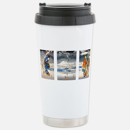 Viewing the Snow Triptich Travel Mug