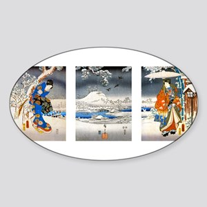 Viewing the Snow Triptich Sticker (Oval)