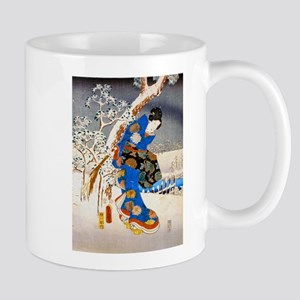 Viewing the Snow (left) 11 oz Ceramic Mug