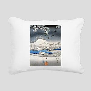 Viewing the Snow (center) Rectangular Canvas Pillo