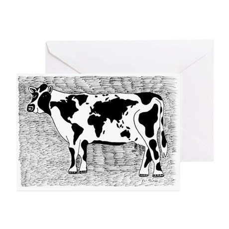 Cow Map Greeting Cards (Pk of 10)