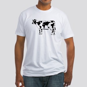 Cow Map Fitted T-Shirt