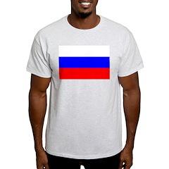 Flag of Russia Ash Grey T-Shirt