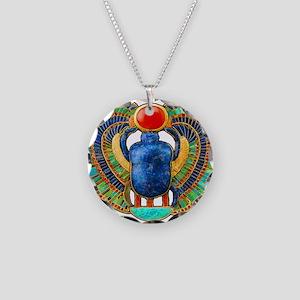King Tutankhamuns Scarab Flat Necklace Circle