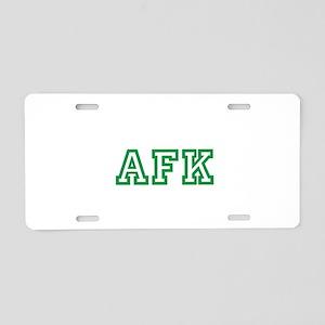 University of AFK Aluminum License Plate