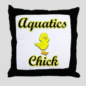 Aquatics Chick Throw Pillow