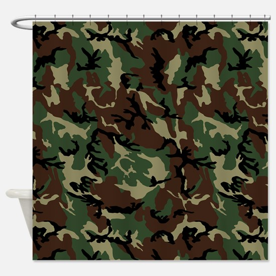 Cute Camouflage Shower Curtain