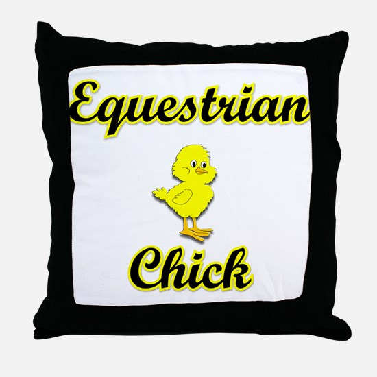 Equestrian Chick Throw Pillow