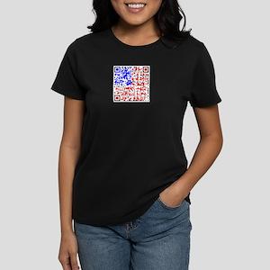 QR US Flag Women's Dark T-Shirt