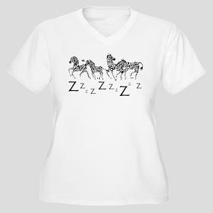 Zebra Z's Women's Plus Size V-Neck T-Shirt