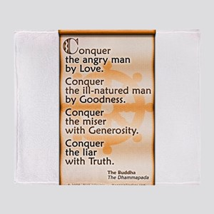 Conquer by Love Throw Blanket