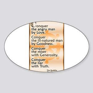 Conquer by Love Sticker (Oval)