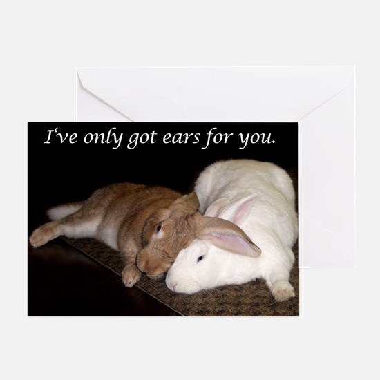 Bunny Valentine's Day Greeting Card