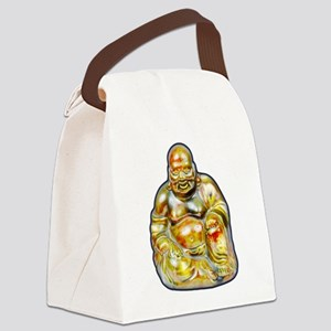 Laughing Buddha Canvas Lunch Bag