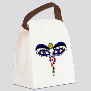 The Eyes of the Buddha Canvas Lunch Bag