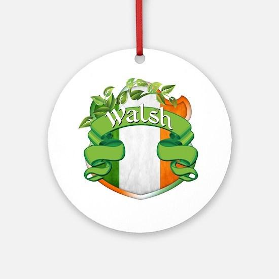 Walsh Shield Ornament (Round)