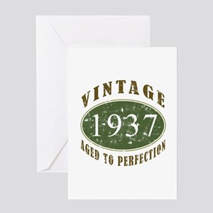 Vintage 1937 Retro Greeting Card