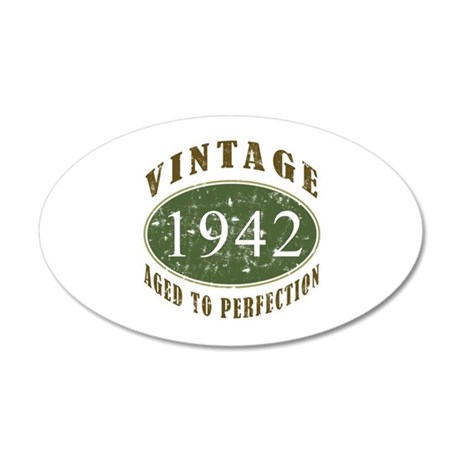 Vintage 1942 Retro 22x14 Oval Wall Peel
