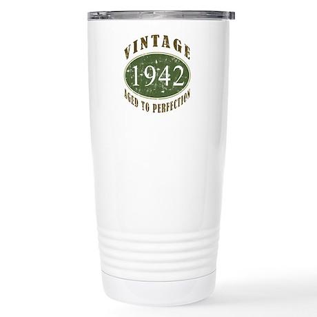Vintage 1942 Retro Stainless Steel Travel Mug