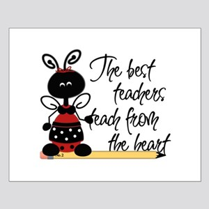 Ladybug Teacher Small Poster
