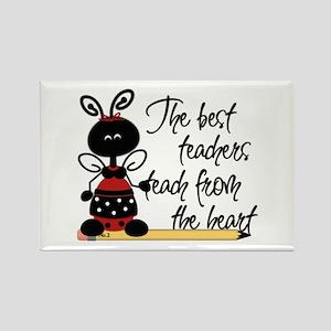 Ladybug Teacher Rectangle Magnet