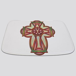 Color goth cross Bathmat