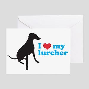 I Love My Lurcher Greeting Card