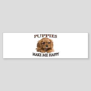 LOVE PUPPIES Sticker (Bumper)