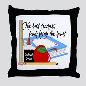 Teach From Heart Throw Pillow