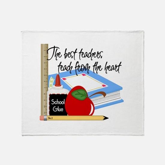 Teach From Heart Throw Blanket