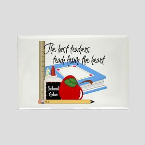 Teach From Heart Rectangle Magnet