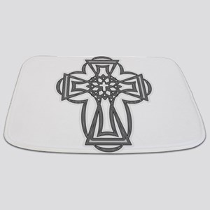 goth cross Bathmat