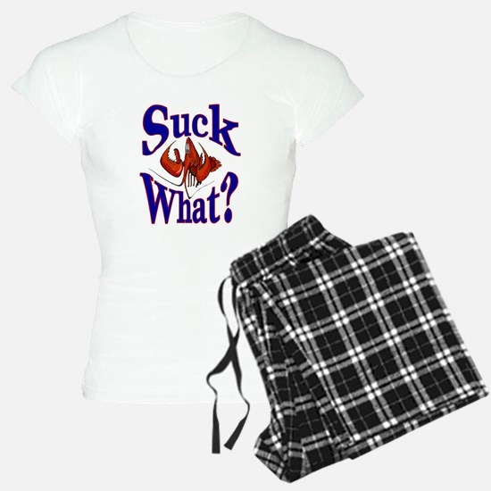 Suck What ? Crawfish Shirt Pajamas
