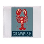 Crawfish In Red and Blue Throw Blanket