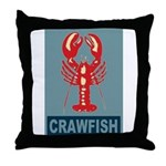 Crawfish In Red and Blue Throw Pillow