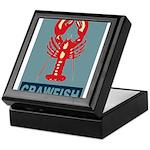 Crawfish In Red and Blue Keepsake Box