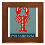 Crawfish In Red and Blue Framed Tile