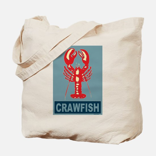 Crawfish In Red and Blue Tote Bag