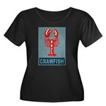 Crawfish In Red and Blue Women's Plus Size Scoop N