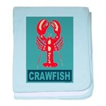 Crawfish In Red and Blue baby blanket