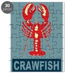 Crawfish In Red and Blue Puzzle