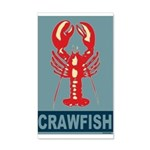 Crawfish In Red and Blue 22x14 Wall Peel