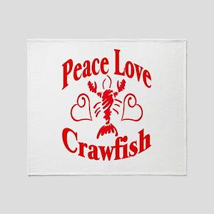 Peace Love Crawfish Throw Blanket