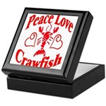 Peace Love Crawfish Keepsake Box