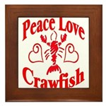 Peace Love Crawfish Framed Tile