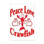 Peace Love Crawfish Mini Poster Print