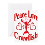 Peace Love Crawfish Greeting Card