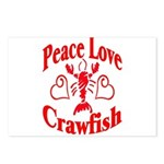 Peace Love Crawfish Postcards (Package of 8)