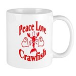 Peace Love Crawfish Mug